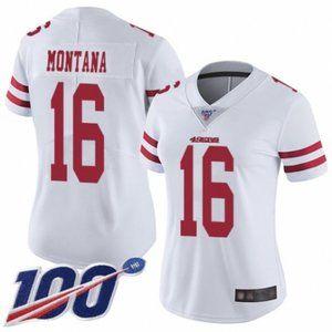 Women 49ers Joe Montana 100th Season Jersey (5)